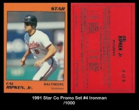 1991 Star Co Promo Set #4 Ironman