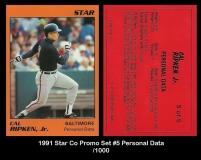1991 Star Co Promo Set #5 Personal Data