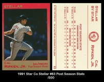 1991 Star Co Stellar #83 Post Season Stats