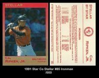 1991 Star Co Stellar #85 Ironman