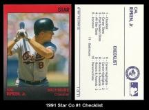 1991 Star Co #1 Checklist