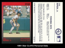 1991 Star Co #10 Personal Data