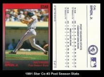 1991 Star Co #3 Post Season Stats