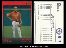 1991 Star Co #4 All-Star Stats