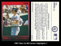 1991 Star Co #6 Career Highlights 1