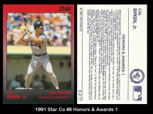 1991 Star Co #8 Honors & Awards 1