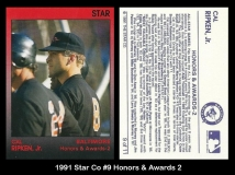1991 Star Co #9 Honors & Awards 2