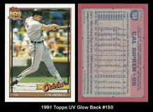1991 Topps UV Glow Back #150