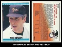 1992 Donruss Bonus Cards #BC1 MVP