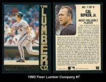 1992 Fleer Lumber Company #7