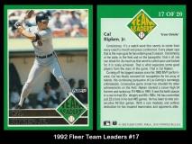 1992 Fleer Team Leaders #17
