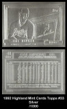 1992-Highland-Mint-Cards-Topps-33-Silver
