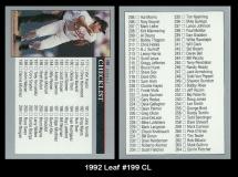 1992 Leaf #199 CL