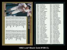 1992 Leaf Black Gold #199 CL
