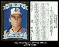 1992 Aamer Sports MVP Gold #NNO