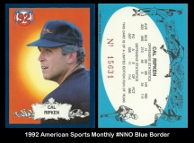 1992 American Sports Monthly #NNO Blue Border