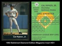 1992 Ballstreet Diamond Edition Magazine Insert #D1