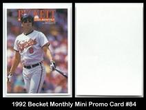 1992 Beckett Monthly Mini Promo Card #84
