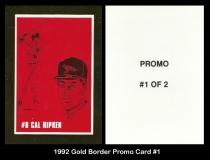 1992 Gold Border Promo Card #1