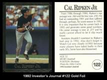 1992 Investors Journal #122 Gold Foil