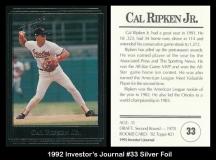 1992 Investors Journal #33 Silver Foil