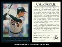 1992 Investors Journal #42 Blue Foil