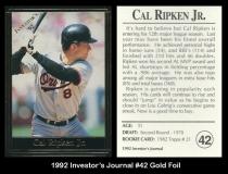 1992 Investors Journal #42 Gold Foil