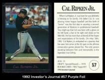 1992 Investors Journal #57 Purple Foil