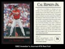 1992 Investors Journal #76 Red Foil