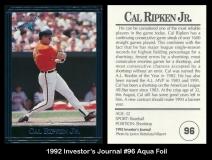 1992 Investors Journal #96 Aqua Foil