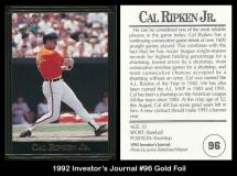 1992 Investors Journal #96 Gold Foil