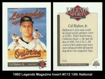 1992 Legends Magazine Insert #C12 13th National