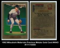 1992 Mitsubishi Materials Precious Metals Gold Card #NNO