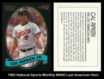 1992 National Sports Monthly #NNO Last American Hero