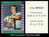 1992 Purple Border White Stars #NNO