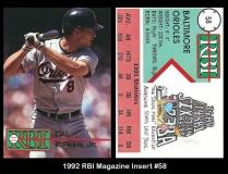1992 RBI Magazine Insert #58