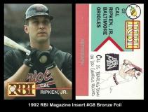 1992 RBI Magazine Insert #G8 Bronze Foil