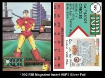 1992 RBI Magazine Insert #SP2 Silver Foil