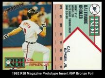 1992 RBI Magazine Prototype Insert #9P Bronze Foil