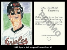 1992 Sports Art Images Promo Card #1