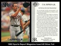 1992 Sports Report Magazine Insert #2 Silver Foil