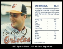 1992 Sports Stars USA #8 Gold Signature