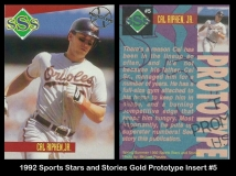 1992 Sports Stars and Stories Gold Prototype Insert #5