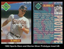 1992 Sports Stars and Stories Silver Prototype Insert #5