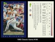 1992 Classic Game #190