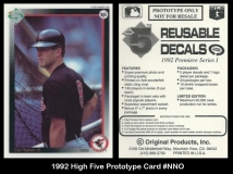1992 High Five Prototype Card #NNO