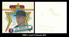 1992 L and K Decals #23