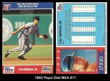 1992 Pepsi Diet MSA #17
