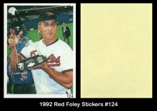 1992 Red Foley Stickers #124