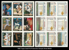 1992-Topps-Gold-Pre-Production-Sample-Sheet-NNO
